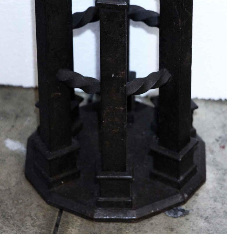 1890s Wrought Iron Stair Railing Post with Twisting For ...