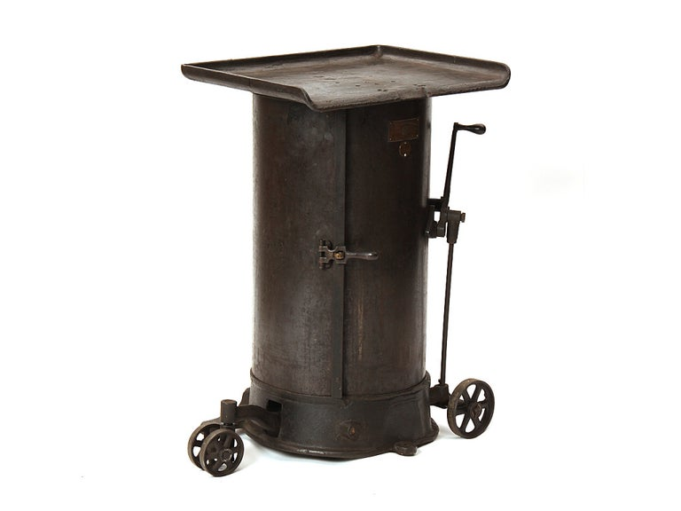 19th Century 1890s American Made Industrial Bar Cart by New Britain Machine Co. For Sale