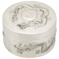 1890s Antique Chinese Export Silver Box