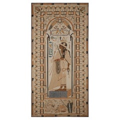 1890's Antique Egyptian Cotton Applique Tapestry