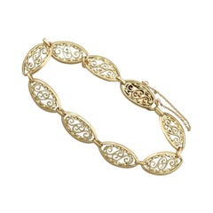 1890s Antique French Yellow Gold Bracelet