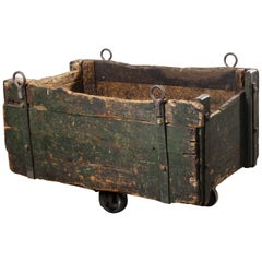 1890s Heavy Industrial Box Trolley