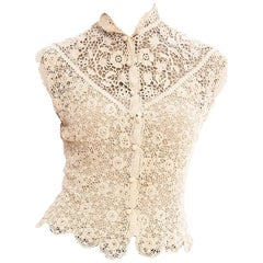 1890S Lace Victorian Irish Crochet Top