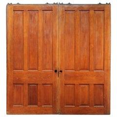 1890s Large Scale Antique Pocket Double Doors Six Panels Each