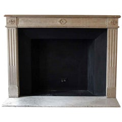 1890s NYC Waldorf Astoria Carved French Louis XVI Regency Limestone Mantel