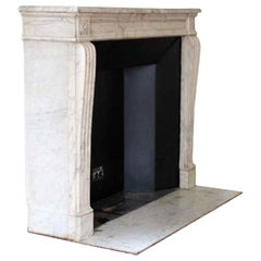 1890s NYC Waldorf Astoria Hotel French Regency Louis XVI Carrara Marble Mantel