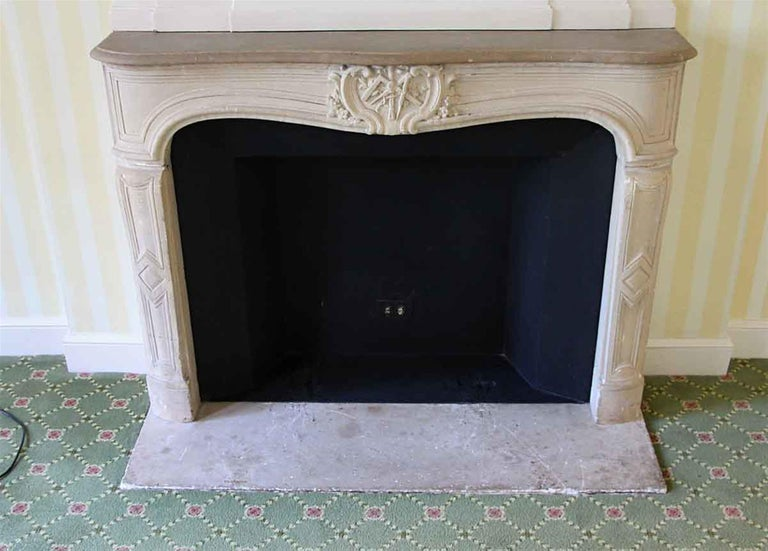 Late 19th Century 1890s NYC Waldorf Astoria Hotel Louis XV French Carved Limestone Mantel For Sale