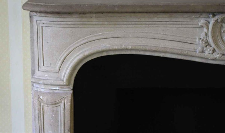 1890s NYC Waldorf Astoria Hotel Louis XV French Carved Limestone Mantel For Sale 2