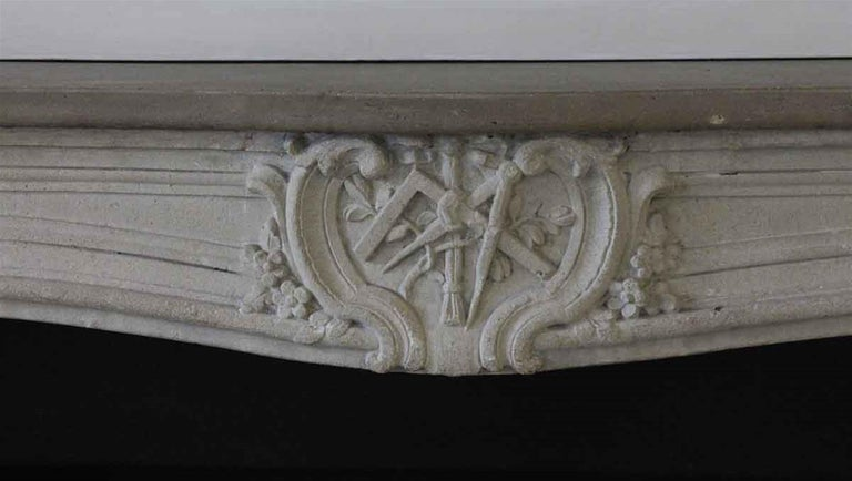 1890s NYC Waldorf Astoria Hotel Louis XV French Carved Limestone Mantel For Sale 3