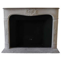 1890s NYC Waldorf Astoria Hotel Louis XV French Carved Limestone Mantel