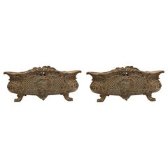 1890s Pair of Antique Cast Iron French Planters