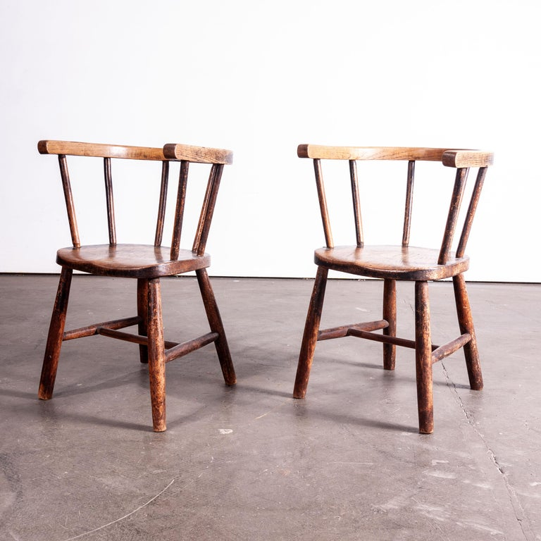 British 1890s Pair of Victorian Childs Chairs For Sale