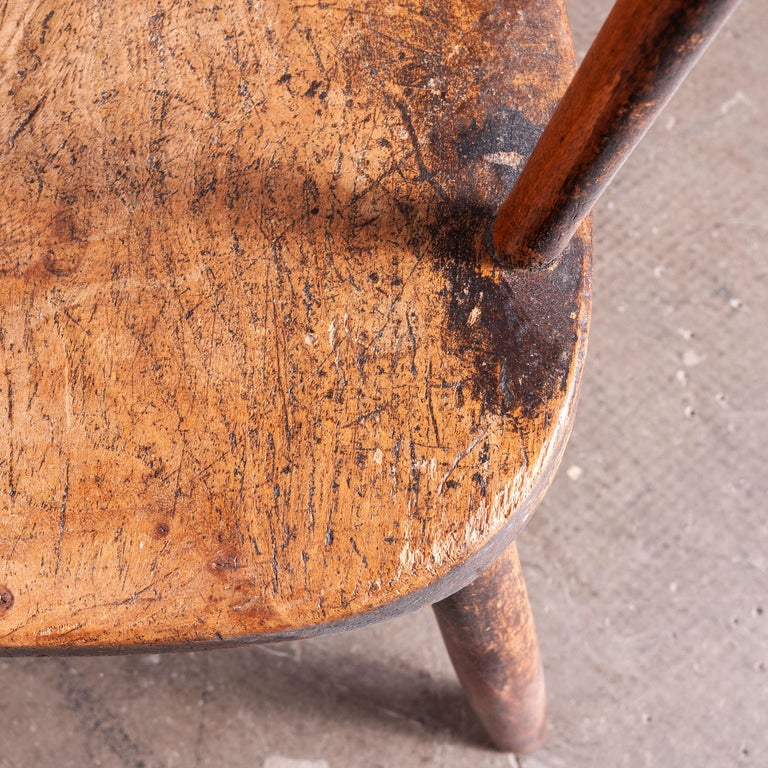 1890s Pair of Victorian Childs Chairs In Good Condition For Sale In Hook, Hampshire