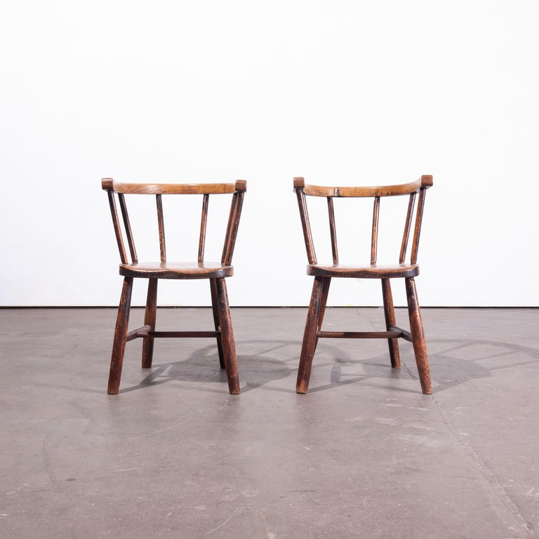 1890s Pair of Victorian Childs Chairs For Sale 1