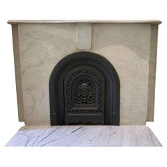 1890s Simple Arched Marble Mantel from an Early Manhattan Residence