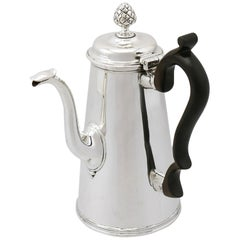 1890s Victorian Sterling Silver Coffee Pot