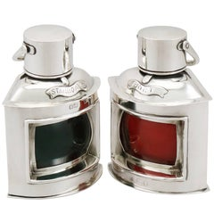 1890s Victorian Sterling Silver Nautical Table Lighters