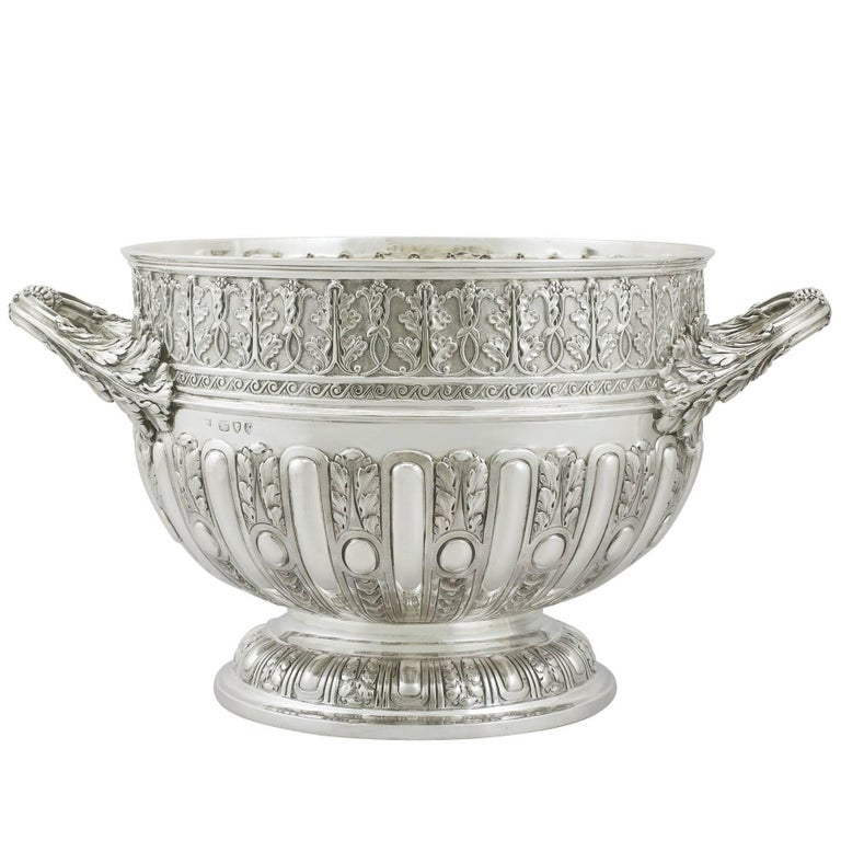 1890s Victorian Sterling Silver Presentation Bowl by Mappin & Webb