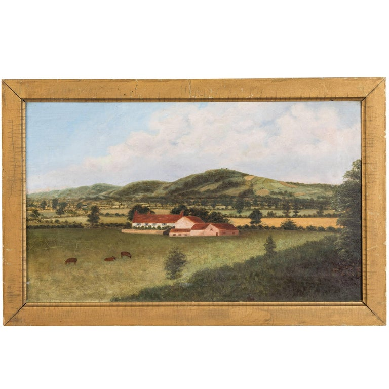 1892 English Oil on Canvas Pastoral Scene