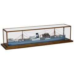 1895-1907 S.S Harcalo Steam Boat Cargo Ship Large Scaled Model in Custom Case