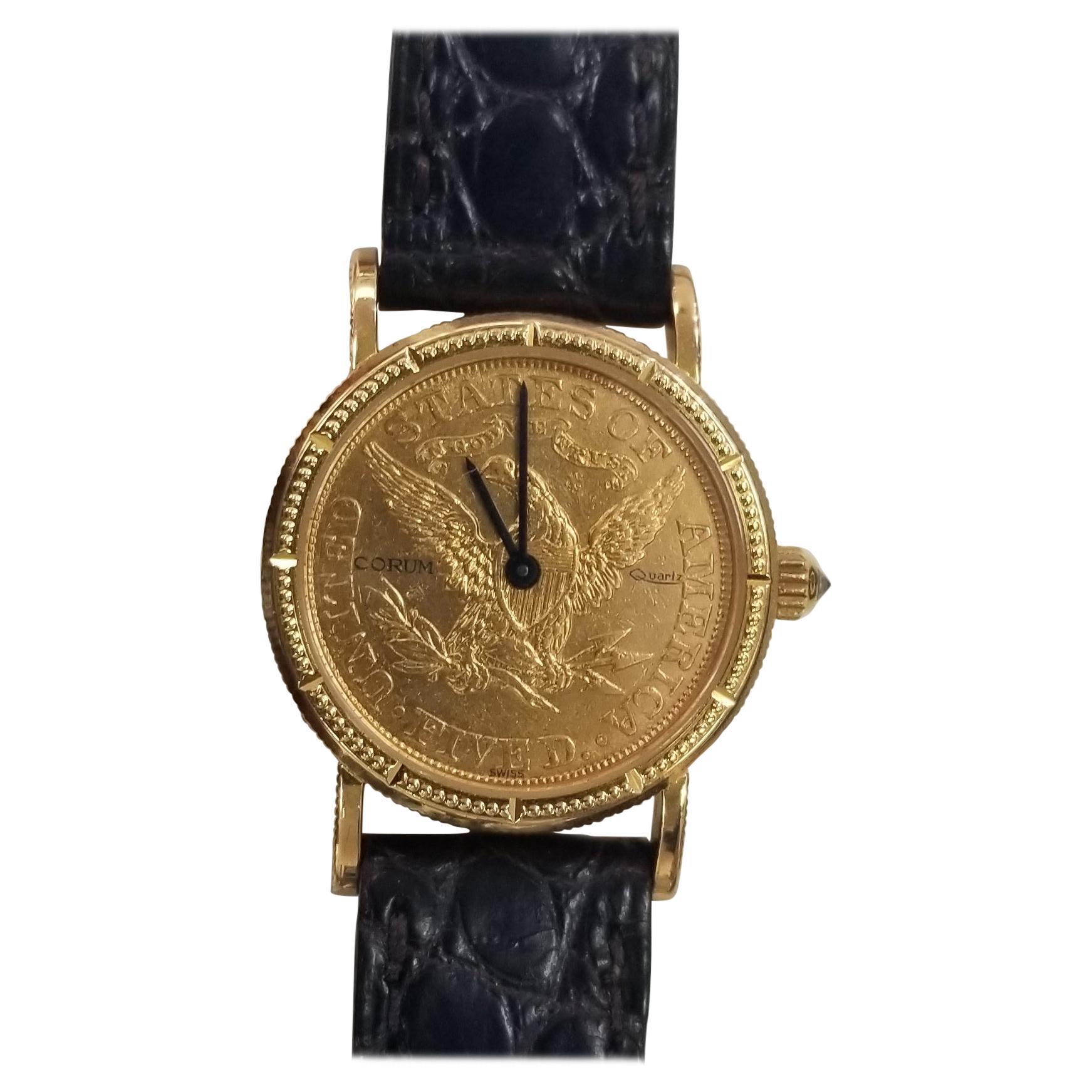 1898 $5 Gold Eagle-Liberty Corum Quartz Watch
