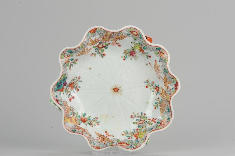 18th Century Chinese Porcelain Qianlong/Yongzheng Famille Rose Pattipan Antique For Sale 4