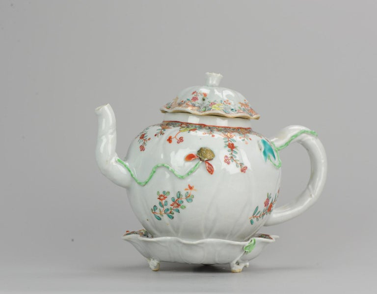 18th Century Chinese Porcelain Qianlong/Yongzheng Famille Rose Pattipan Antique For Sale 6