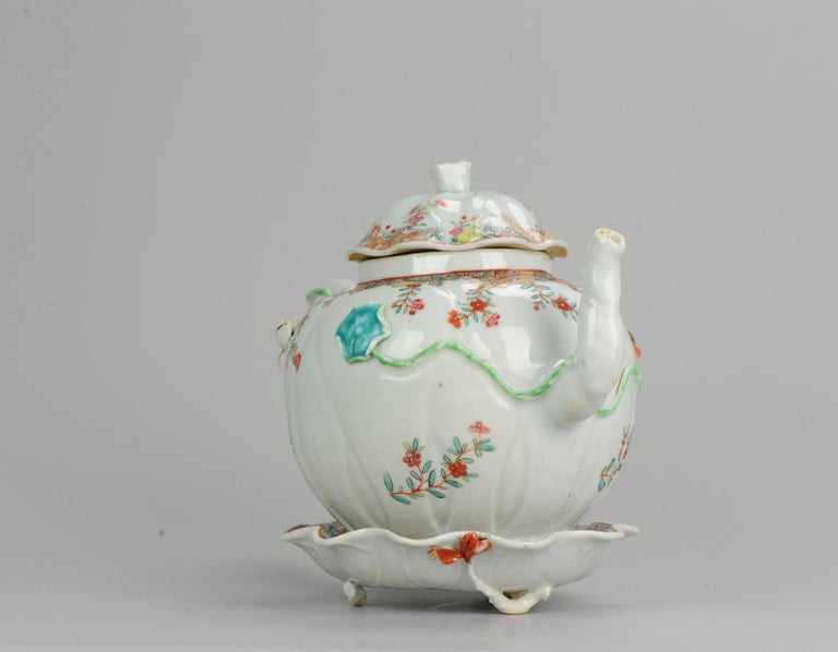 18th Century Chinese Porcelain Qianlong/Yongzheng Famille Rose Pattipan Antique In Good Condition For Sale In Amsterdam, Noord Holland