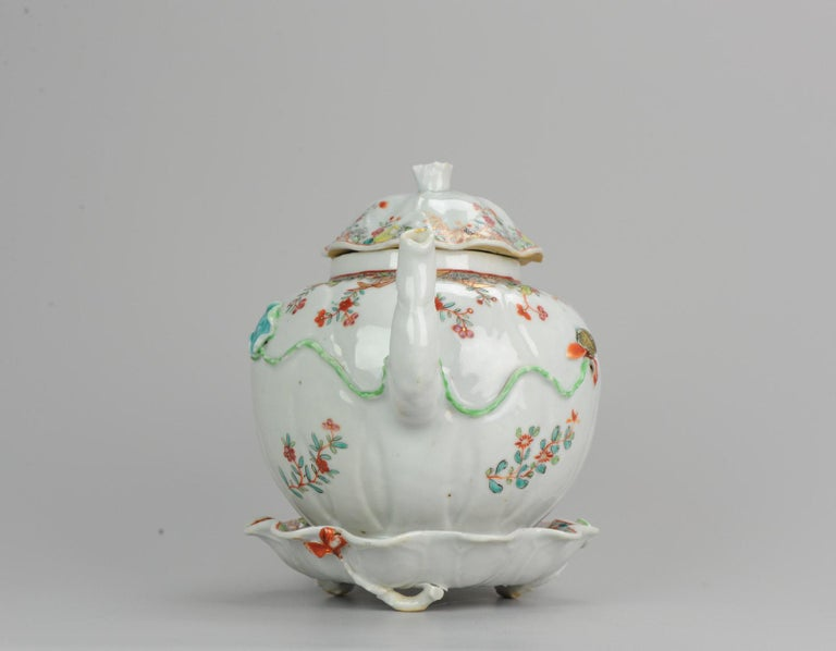 Mid-18th Century 18th Century Chinese Porcelain Qianlong/Yongzheng Famille Rose Pattipan Antique For Sale