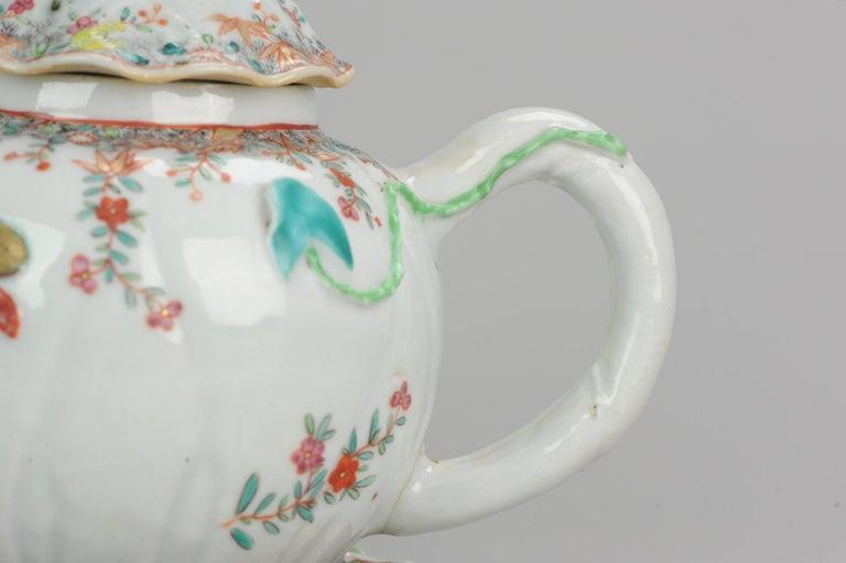 18th Century Chinese Porcelain Qianlong/Yongzheng Famille Rose Pattipan Antique For Sale 3