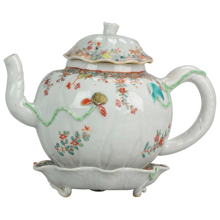 18th Century Chinese Porcelain Qianlong/Yongzheng Famille Rose Pattipan Antique For Sale