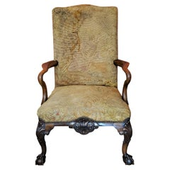 18C English Chippendale Shepherds Crook Armchair