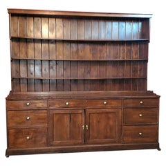 18th Century George II Pitch Pine English Dresser