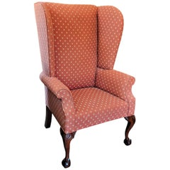 18th Century Philadelphia Irish Chippendale Style Tall Wingback Armchair