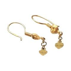 18ct & 22ct Gold Vintage Earrings