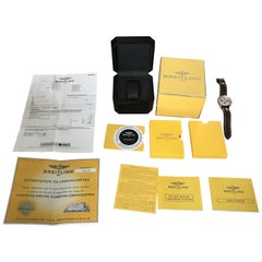 18Ct Gold and Steel Breitling Navitimer D23322 Wrist Watch, Full Set Box Papers
