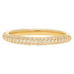 18 Carat Yellow Gold Diamond Half Eternity Ring 0.35 Carat