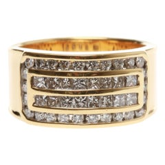 18ct Yellow Gold Multistone Diamond Band Ring
