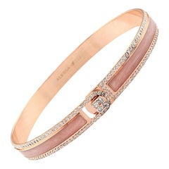 18k & 1.65 Carat Rose Border Spectrum Rose Gold and Diamonds Bracelet by Alessa
