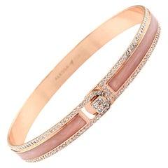 18K & 1.65 Carat Rose Border Spectrum Rose Gold and Diamonds Bracelet by Alessa