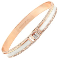 18K & 1.65 Carat White Border Spectrum Rose Gold and Diamonds Bracelet by Alessa