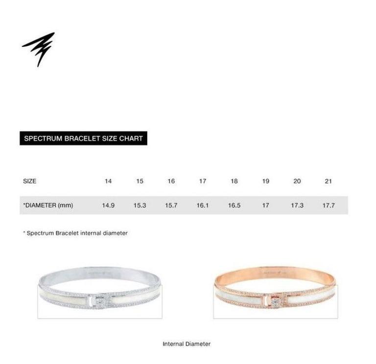 18K & 1.65 cts White Border Spectrum White Gold & Diamonds Bracelet by Alessa For Sale 3