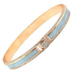 18k & 1.65ct Light Grey Border Spectrum Rose Gold & Diamonds Bracelet by Alessa