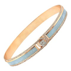 18k & 1.65cts Light Grey Border Spectrum Rose Gold & Diamonds Bracelet by Alessa