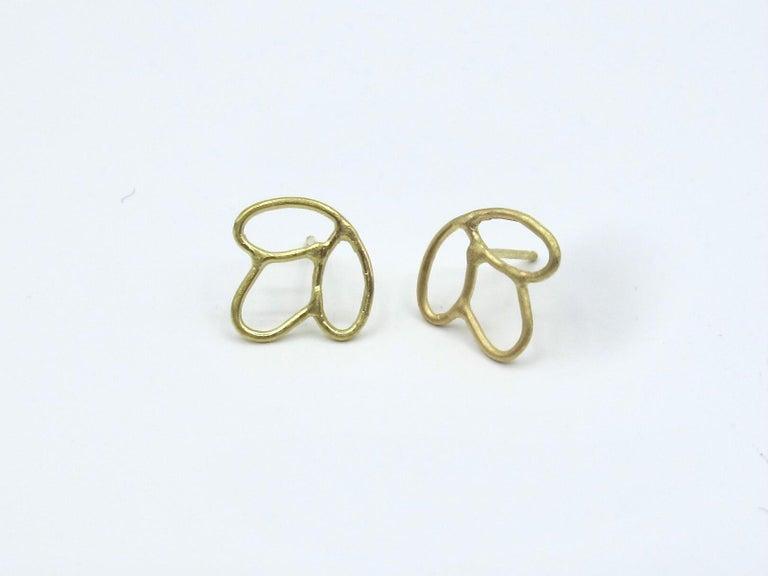 Artist 18k Alchemical Stud Earring Crystal For Sale