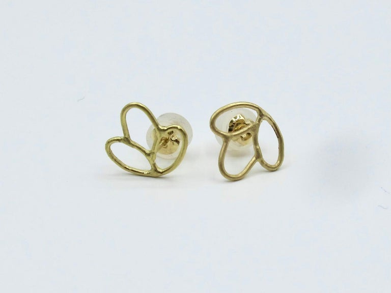 18k Alchemical Stud Earring Crystal In New Condition For Sale In New York, NY