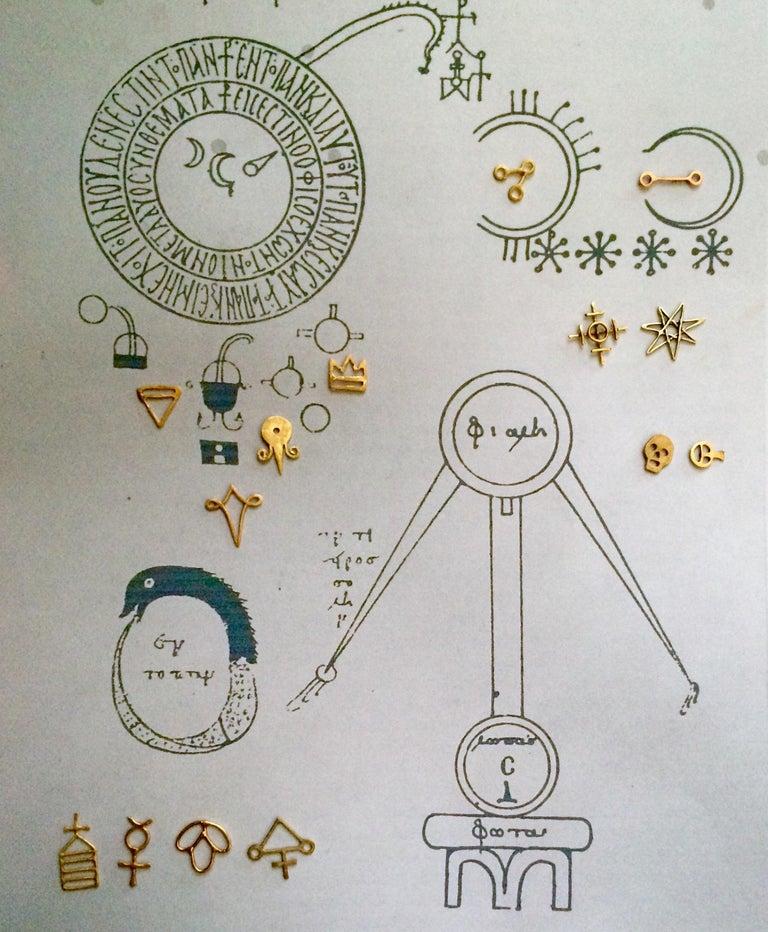 18k Alchemical Stud Earring Crystal For Sale 3