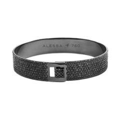 18K Black Gold & 12.74 cts Diamond Men's Full Pave Diamond Bracelet by Alessa
