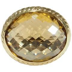 18 Karat David Yurman Albion Ring Citrine Sterling Silver