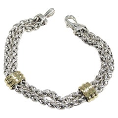 18 Karat David Yurman Bracelet Sterling Silver Yellow Gold